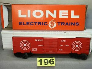 CLEAN LIONEL O GAUGE #6448 EXPLODING TARGET RANGE CAR EXCELLENT READY TO RUN O.B
