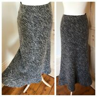 Hobbs Ladies Long Midi Skirt Vintage Tweed Wool Blend Fit & Flare Skirt Size 8