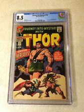 JOURNEY INTO MYSTERY #124 CGC 8.5 EARLY THOR, HERCULES, REVEALS ID TO JANE 1966