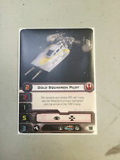 X-wing miniatures singles-gold squadron pilot (alternate art)