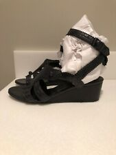 L-3920999 New Balenciaga Black Suede Leather Wedge Shoe Size US-8 Marked-38