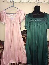 Vintage PRETTY VANITY FAIR Silky PAIR of 2 Nightgowns SZ LG SISSY
