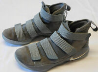 Nike Zoom Lebron James Soldier XI 11 Shoes Gray Size Mens 7.5