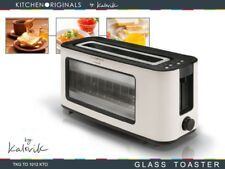 Design Glass Toaster Long Slotted Bread 1100 W Infra Red Quartz 30420