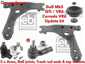 FEBI SUSPENSION UPDATE KIT VW CORRADO VR6 GOLF MK3 GTI VR6 5 STUD (2X ALL ITEMS)