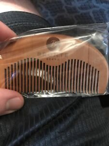 1pc Natural Brown Comb Sandalwood Massage Hair Comb Wooden Beard Comb US