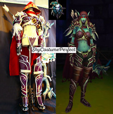 FREE WW SHIP World Of Warcraft WOW Sylvanas Windrunner Cosplay Costume SET Game