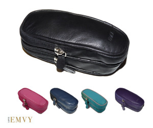 Luxury soft Leather unisex DOUBLE Glasses case spectacles by Love EMVY 5 colours