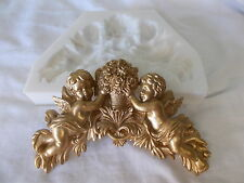 SILICONE RUBBER MOLD ~ CHERUBS AND FLOWERS ~ FURNITURE MOULDING