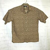 Tori Richard Hawaiian Retro Men Short Sleeve Shirt Cotton Lawn Sz XL