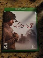 Syberia 3 (Microsoft Xbox One, 2017) Used