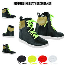 Motorbike Winter Scooter Motorcycle Riding Sneakers Adventure Real Leather Shoes
