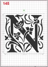 Beautiful Alphabet Letter N Stencil MYLAR A4 sheet strong resuable Craft ArtDeco