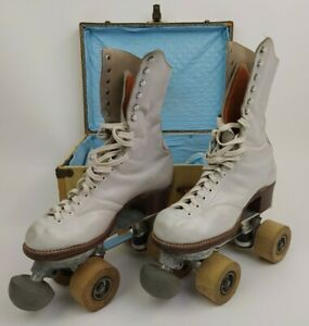 VTG Betty Lytle by Hyde Sz 6 Roller Skates Cleveland Wooden Wheels Gloria Nord