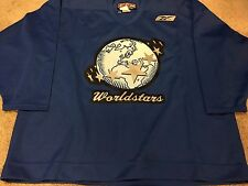 2004 WORLD STARS CCM Blue Practice Worn Used Hockey Jersey 58