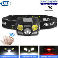 6 Modes USB Rechargeable LED Headlamp Headlight Head Lamp Flashlight Waterproof