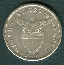 1 Peso 1908-S US-Philippine United States of America Silver Coin KM172 - AA#24