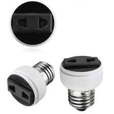 E27 Screw Socket Lamp Light Holder Bulb Convert To Power Female Outlet US EU *