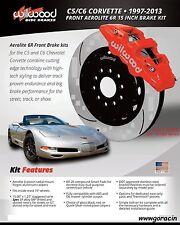 "1997-2013 Corvette Wilwood Aero6 Front Big Brake Kit w/ 15"" Rotors,C-5,C-6,Z06 *"