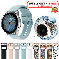 For Samsung Galaxy Watch Active 2 40mm 44mm Silicone Sport Wrist Band Soft Strap
