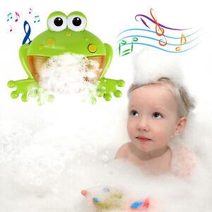 Frog Bubble Machine 12 Songs Musical Bubble Maker Children Bath Shower Toy