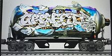 Spray Can graffiti style themed train #4 of 5 piece set (BOMBATOMIK)