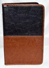 Rolodex Black & Brown 36 Business/Credit Card Holder w/ Bill Slots & Pen Holder