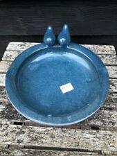CERAMIC BIRD BATH VERY DECORATIVE AND PRACTICAL IN PETROL BLUE