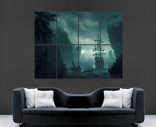 Barco Pirata isla de agua de mar Niebla Cartel imagen Pared imagen Impresión de Arte Grandes