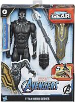 "Marvel Titan Hero Series Blast Gear Deluxe Action Figure, Black Panther 12"" Toy"