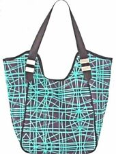 Neiman Marcus Green And Black Stick Print Tote Shopper New With Tags NWT