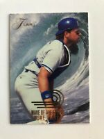 1993 Flair MIKE PIAZZA Dodgers Wave of the Future Baseball Insert Card #12