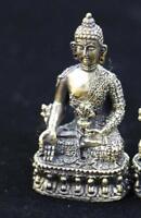 Folk Tibet Tibetan Brass Buddhism Medicine Buddha Statue Figurine