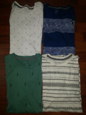Old Navy Mens Lot of 4 Multicolor Short Sleeve Super Soft Shirts Size Small