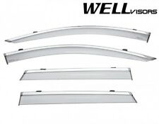 OPEN BOX For 17-Up Nissan Rogue Sport WellVisors Chrome Trim Window Visors