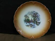 "Vtg. Antique Petus Regout & Co. Maastricht ""Boys Sledding Scene""Plate,Holland"