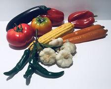 13 Fake Faux Vegetables Harvest Decorative Mixed Lot Plastic Colorful