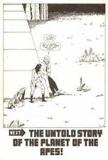 Planet of the Apes: Ape City #2 p.28 - End Page Splash - 1990 art by M.C. Wyman
