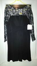 ANNE KLEIN WOMENS BLACK EVENING DRESS SIZE UK 16 ITALY 46 RRP €138