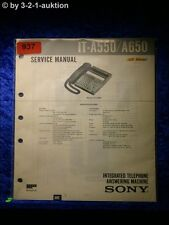 Sony Service Manual IT A550 / A650 Telephone (#0937)