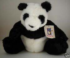"Panda Sitting Plush by Manhattan Toy Rarities Collection Claws Realistic 10"" NWT"