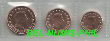 LUXEMBURG 2012 -  1 - 2 - 5 cent uit de rol/du rouleau - UNC!!!