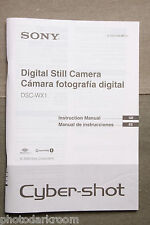 Sony DSC-WX1 Digital Camera Instruction Manual Book English Spanish USED M2