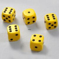 25 Stück 16mm Gelbe Knobel Würfel / Augen Würfel Spielwürfel von Frobis