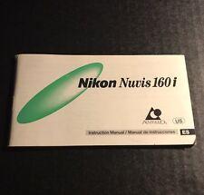 Nikon Nuvis 160i 35mm Film Advanced Photo System Camera - Instruction Manual