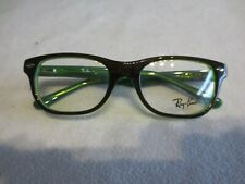 Ray Ban Junior black / green glasses frames. RB 1555 3665. With case.