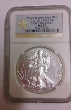 2012 W American Silver Eagle Dollar West Point Early Release NGC MS 70 (#ASE-2)