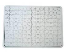 Blanc Puzzle en Bois 130 Pièces Puzzle en Bois Malpuzzle Dessiner Carte Lettre
