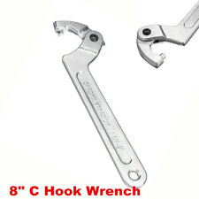 "1x 8"" Adjustable Motorcycle Atv Tool Shock Absorber C Clamp Spanner Hook Wrench (Fits: Buell)"