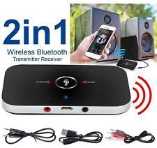 Bluetooth Transmitter & Receiver Wireless A2DP Audio 3.5mm Aux Adapter Hub